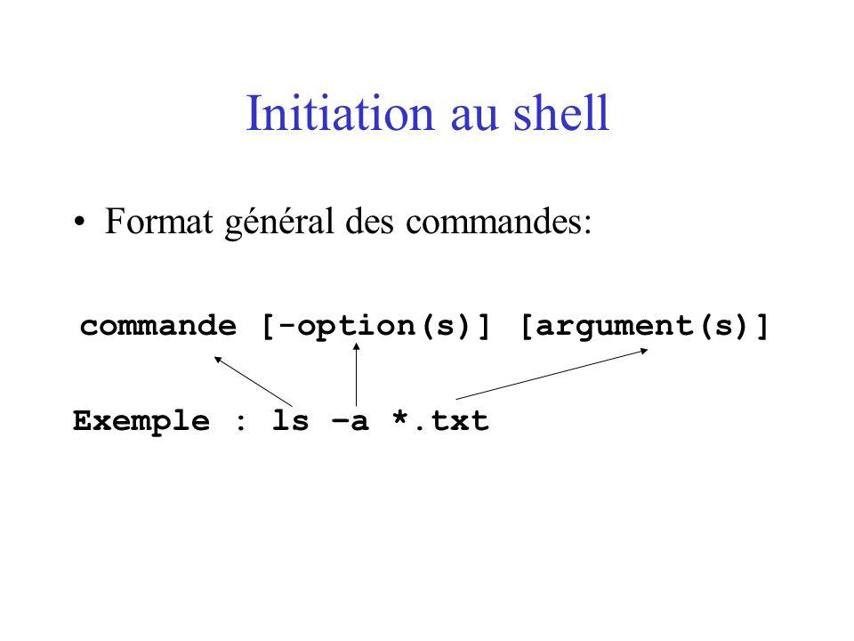 commande [-option(s)] [argument(s)]